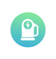 car charging station round icon on white vector image vector image