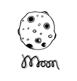 Cartoon moon Hand-drawn vector image