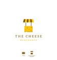 cheese merchant icon logo for cheese store shop vector image