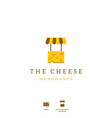 cheese merchant icon logo for store shop vector image