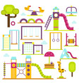 children playground kids time vector image vector image