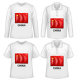 China shirt vector image vector image