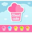 Cloud Cake Logo vector image vector image