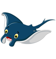 cute stingray cartoon smiling vector image vector image