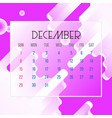 december 2019 calendar leaf vector image