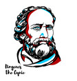 diogenes the cynic portrait vector image vector image
