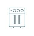 domestic air-conditioner linear icon concept vector image vector image