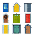 doors in vintage style collection facades and vector image