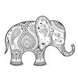 elegant orient elephant vector image vector image