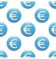 Euro sign pattern vector image vector image