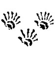 extra fingers hand prints vector image vector image