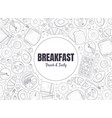 fresh and tasty breakfast banner template morning vector image vector image