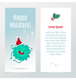 Funny Christmas and New Year holiday banners vector image vector image