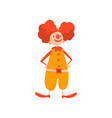 funny clown performing in circus show cartoon vector image vector image