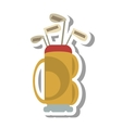 golf clubs equipment isolated icon vector image vector image