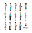 group of people characters vector image