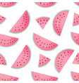 halves and slices of watermelon summer seamless vector image vector image