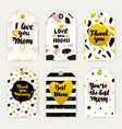 happy mothers day trendy gift labels vector image vector image