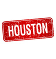 Houston red stamp isolated on white background vector image