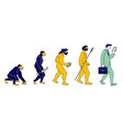 human evolution monkey to modern business man vector image
