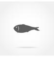 icon fish vector image