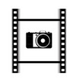 icon of the camera and film vector image vector image