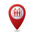 lift red pointer vector image