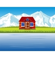 Lodge in mountain high vector image vector image