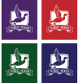 mallard logo set vector image vector image