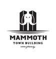 mammoth town logo vector image