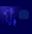 map bahrain from luminous blue star space points vector image vector image