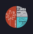 miami florida t-shirt trendy design with wave and vector image vector image