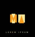modern creative shaped ma am m a logo initial