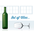 Out of Wine vector image