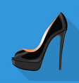 peep toe pump woman shoes flat isolated icon vector image vector image