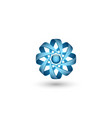 physical atomic particle 3d logo abstract concept vector image
