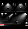 realistic light effect with white spotlight vector image vector image