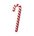 red and white stick christmas decoration vector image