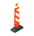 road street barrier vector image vector image