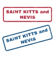 Saint Kitts and Nevis Rubber Stamps vector image