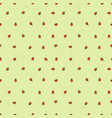 seamless background with ladybugs simple vector image vector image