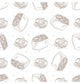 Seamless pattern of sushi vector image