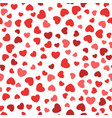 seamless pattern with flat color hearts vector image vector image