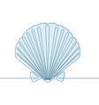 seashell continuous line vector image vector image