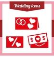 set a wedding invitation vector image vector image