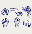 Set of many different hands vector | Price: 1 Credit (USD $1)