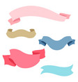 set of romantic ribbons and banners in retro style vector image vector image