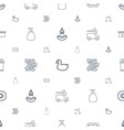 shower icons pattern seamless white background vector image vector image
