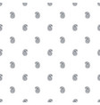 simple paisley pattern in black and white colors vector image