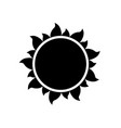 simple sun icon on white background vector image vector image
